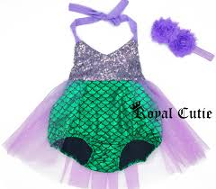 Mermaid Halloween Costume Toddler Mermaid Bathing Suit Baby Girls Toddler Infant Bathing Suit