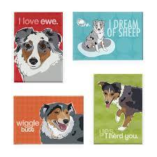 australian shepherd furever amazon com pop doggie australian shepherd refrigerator magnets