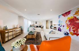 Living Room With Orange Sofa Living Room Awesome Living Room Paint Ideas Floor Custom Mural
