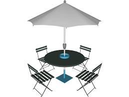 umbrella table and chairs table and chairs with beach umbrella 3d model 3d cad browser