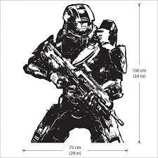 4 master chief return vinyl wall art decal