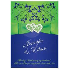 wedding invitations royal blue wedding invitation royal blue lime green floral printed