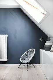 peinture chambre gris et bleu mur bleu gris pétrole foncé chaux mat dy16 idées peintures