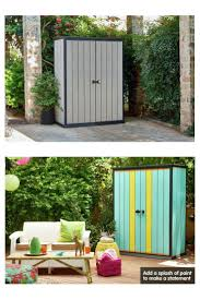 Backyard Storage Units Best 25 Outdoor Storage Units Ideas On Pinterest Trash Can