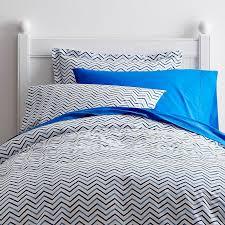 Turquoise Chevron Duvet Cover Chevron Blue Percale Kids Sheets U0026 Bedding Set Company Kids