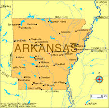 of arkansas cus map map of arkansas which entered the union on june 15 1836 and was
