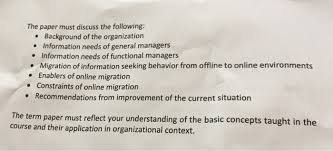 functional managers 8 term paper using your own organization as a ref chegg com