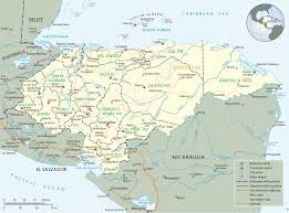 Map Of Central America With Capitals by Map Of Honduras Tegucigalpa