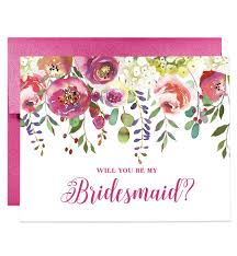 will you be my bridesmaid invitation rainbow floral will you be my bridesmaid card bridesmaid