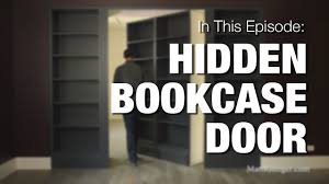 Diy Hidden Bookcase Door Hidden Bookcase Door Youtube