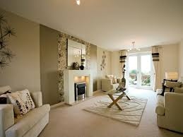 show home decorating ideas taylor wimpey show home mirror on wall with painted strips