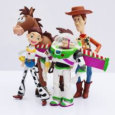 4pcs lot toy story 3 buzz lightyear woody jessie pvc action figure