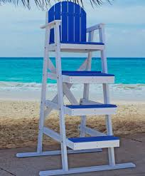 Recycled Plastic Outdoor Furniture Recycled Plastic Lifeguard Chair By Jayhawk Plastics Aaa State