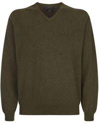 shooting sweater lyst purdey sons shooting sweater in green for