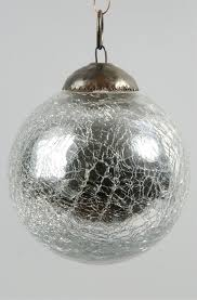glass 4 ornament with crackle silver southern blossoms winter