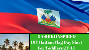 Haitian Flag Shirts How To Make Dashiki Inspired Diy Shirt For Toddlers Youtube