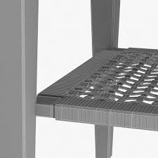 bedside table with rattan shelf 3d model cgtrader