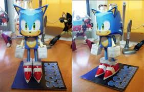 Sonic The Hedgehog Papercraft - sonic the hedgehog paper paperkraft net free papercraft