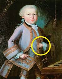 even in his child portrait by pietro antonio lorenzoni we can see a masonic symbol a hand that indicates a hierarchical