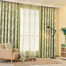 Country Style Curtains For Living Room Style Patterned Curtains Thick Drapes Green And Blue Colors