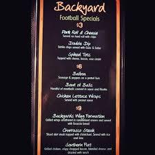backyard sports bar u0026 grill