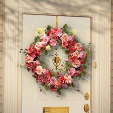 decorative wreaths for the home decorative wreaths artificial plants flowers the home depot