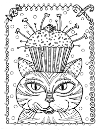 cup cake cat by deborah muller cup cakes coloring pages for
