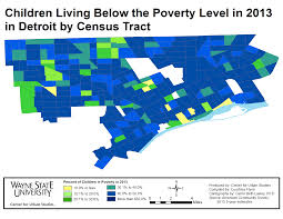 Map Of Detroit Michigan Detroit Poverty