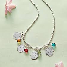 mothers necklace with kids birthstones birthstone jewelry personal creations