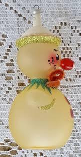 vintage de carlini detailed glass christmas tree ornament snowman
