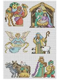 nativity ornaments cross stitch pattern