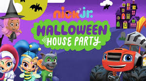 paw patrol halloween house party blaze and the monster machines
