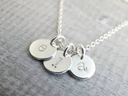 custom charm necklaces personalized initial charms initial necklace sterling silver initial