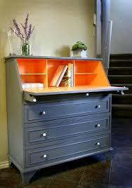 Desk Dresser Combination Best 25 Orange Painted Furniture Ideas On Pinterest Orange