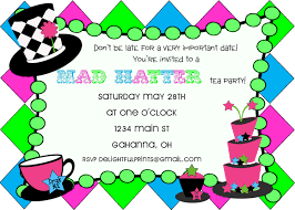 mad hatter tea party invites alesi info
