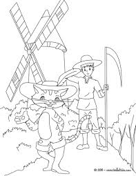 puss in boots fairy tale coloring pages hellokids com