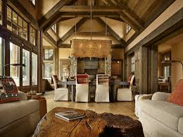 mountain home interiors mountain getaway home is elegantly rustic and just right the
