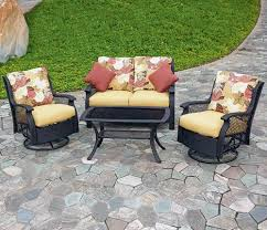 Deep Seating Patio Backyard Creations San Paulo 4 Piece Deep Seating Patio Set At