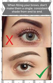 proper way to fill in eyebrows when filling your brows don t make them a single consistent shade