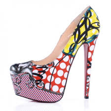 christian louboutin white red multi new daffodile multiprint