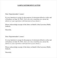 retirement resignation letter 10 retirement letter templates free