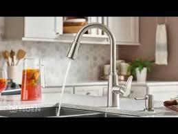 moen high arc kitchen faucet edwyn spot resist stainless one handle high arc pulldown kitchen