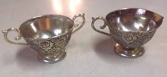 Home Decorators Inc Vintage Home Decorators Inc Silver Plate Sugar Bowl U0026 Creamer Set