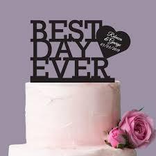 acrylic cake toppers best day acrylic wedding cake topper unique wedding cake