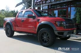 Ford Raptor Red - ford raptor with 20in fuel octane wheels exclusively from butler