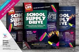 brochure templates drive school supply drive flyer templates flyer templates creative