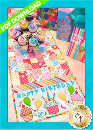 happy birthday table runner pattern pdf download