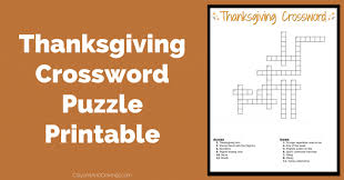 thanksgiving crossword puzzle free printable
