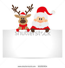 christmas santa claus reindeer snowman stock illustration