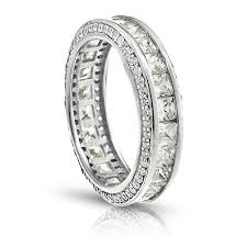 white gold eternity ring 18k white gold princess cut insideout cz eternity ring